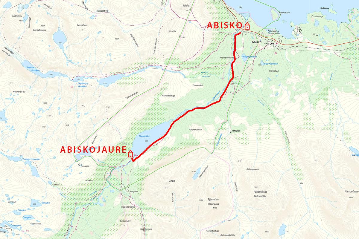 Kungsleden trail, Abisko to Abiskojaure