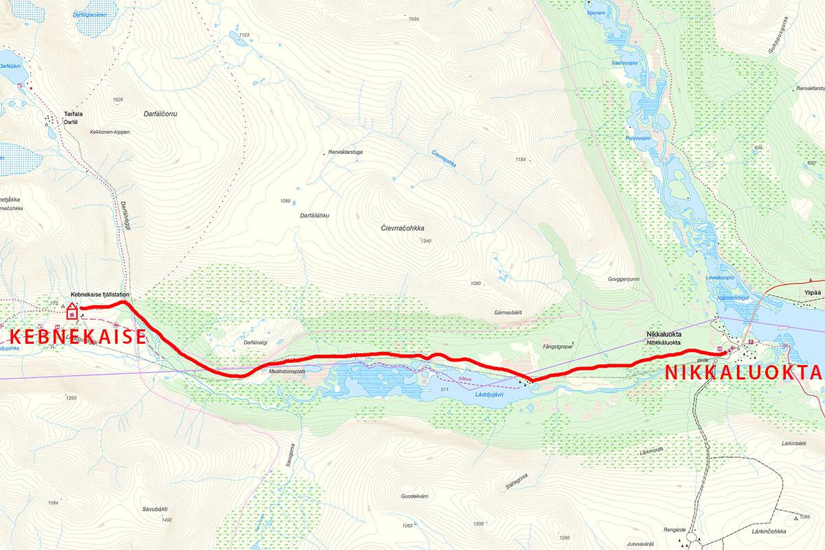 Kungsleden Trail Map