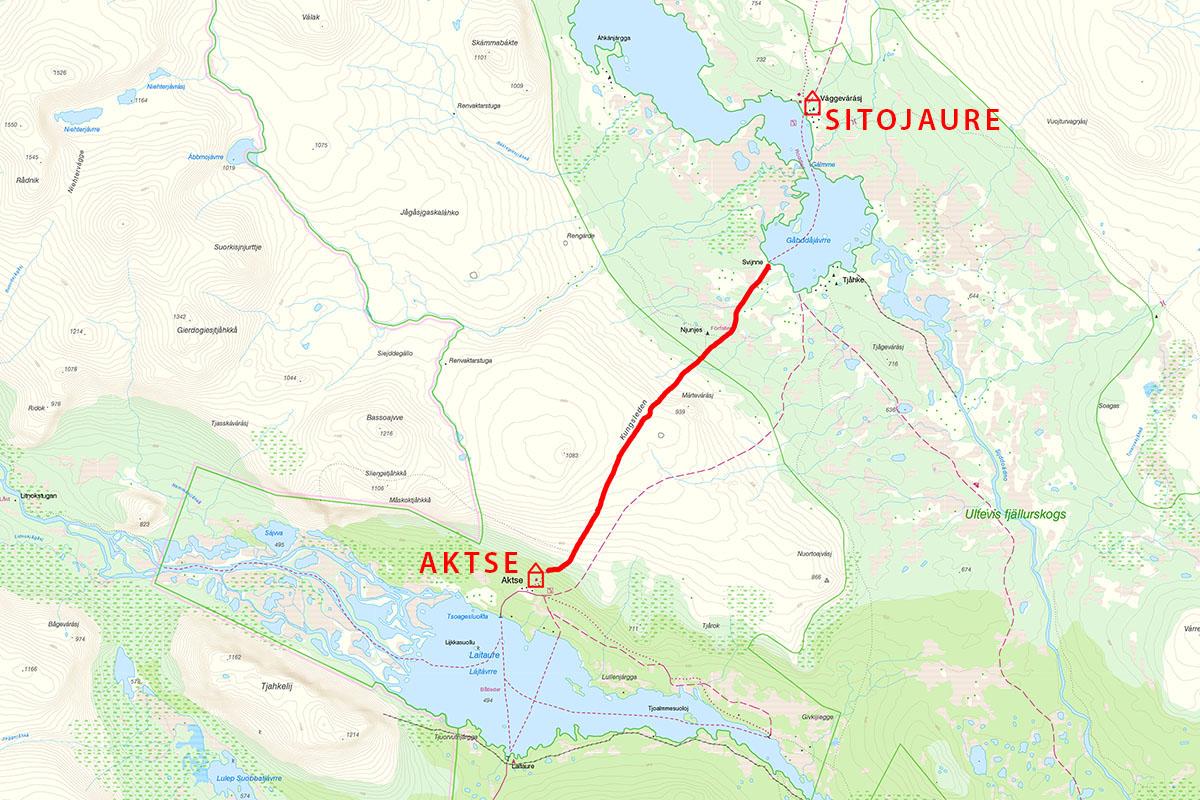 Kungsleden Map