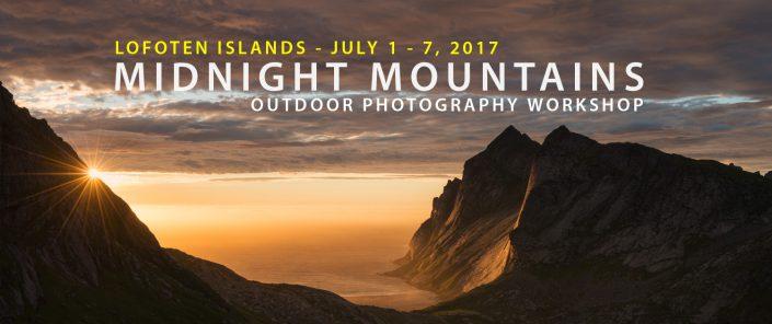 Lofoten Photo Workshop - Midnight Mountains - July 2017