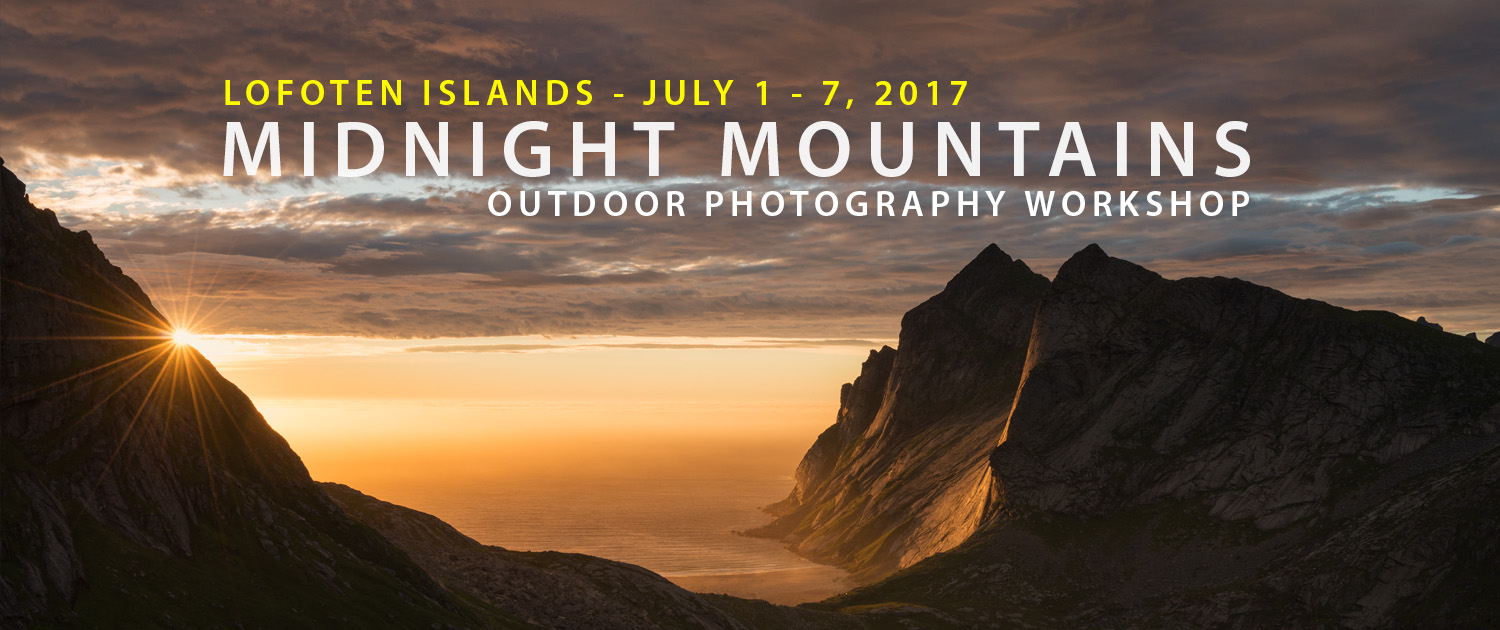 Lofoten Photo Workshop - Midnight Mountains - July 2017