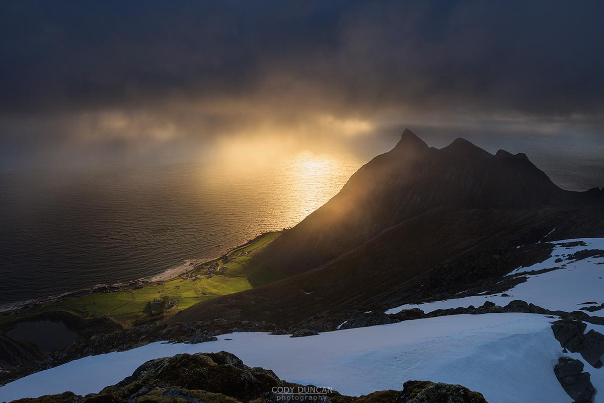 Lofoten photo tour - Midnight Mountain