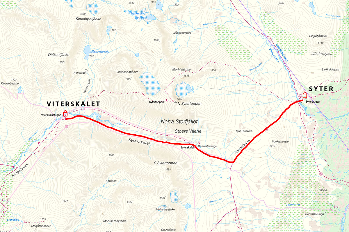 Kungsleden map Viterskalet