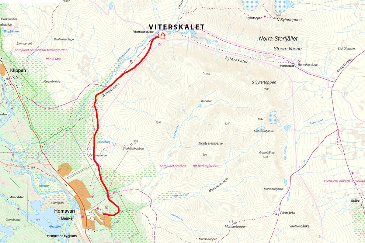 Kungsleden Map Hemavan